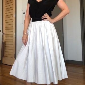 White faux leather skirt